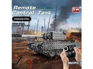 RC Battle Tank Car Building Blocks Educational Toys Stainless Steel Remote Control RC Toy Gift for Kids Boys 952pcs