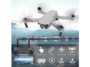 CSJ X2 RC Drone with Dual Camera 4K Mini Drone Foldable Quadcopter for Kids with Function Trajectory Flight Headless Mode 3D Flight Auto Hover with 3 Battery