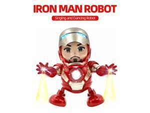 Dancing Iron Man Toy Tiktok Robot  Electronic w/ LED Light Singing Marvel Avengers Gift for Kids Adult
