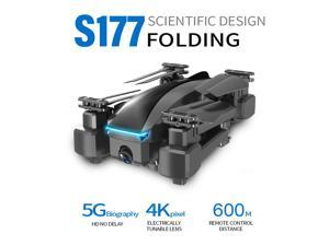 CSJ S177 RC Drone with Camera 4K Drone Dual Camera 5G WIFI FPV GPS One Key Return Gesture Photo/video Optical Flow Positioning Quadcopter