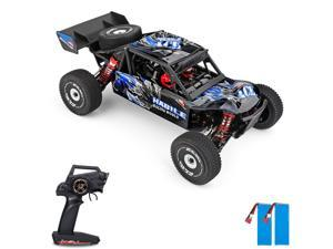 Wltoys 124018 High Speed Racing Car 60km/h 1/12 2.4GHz RC Car Off-Road Drift Car RTR 4WD Aluminum Alloy Chassis Zinc Alloy Gear with 2 Battery