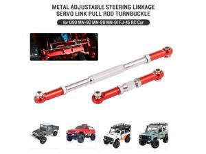 Aluminum Alloy Metal Adjustable Steering Linkage Servo Link Pull Rod Turnbuckle for D90 MN-90 MN-99 MN-91 FJ-45 RC Car 1/12 Rock Crawler Upgrade Parts