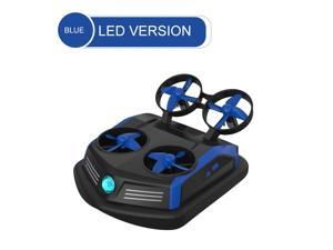 Mirarobot Domain S200 Mini Drone Remote Control Boats Car 3-in-1 Sea-Land-Air Mode Switchable Waterproof Hovercraft Toy RC Quadcopter One Button Flip Over Low-Pressure Alarm