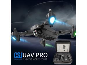 CSJ S166GPS Drone with Camera 720P Handbag Follow me Auto Return Home WIFI FPV Live Video Gesture Photos RC Quadcopter for Adults