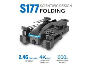 CSJ S177 RC Drone with Camera 4K Drone Dual Camera 2.4G WIFI FPV GPS One Key Return Gesture Photo/video Optical Flow Positioning Quadcopter