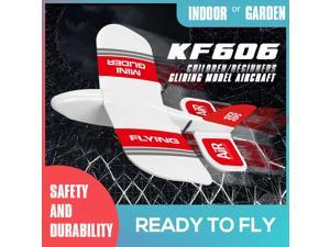 KF606 2.4G RC Airplane Flying Aircraft for Beginner EPP Foam Glider Fixed Wing Airplane RTF Foam Plane Remote Control Gliding Aircraft Model Toys Kids Gifts