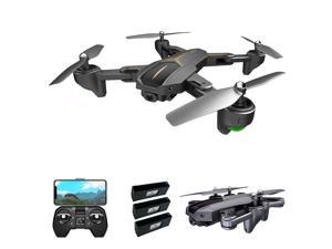 VISUO XS812 Drone with Camera 4K Drone GPS 5G Wifi FPV Folding Drone Headless Mode GPS Follow Gesture Shooting One Key Return Drone for Adults