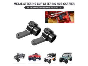 Replacement for D90 MN-90 MN-99 MN-91 FJ-45 JJRC WPL RC Car Metal Steering Cup Steering Hub Carrier Aluminum Alloy Upgrade Parts