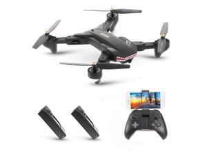 VISUO XS809S with Camera 720P Wide Angle Wifi FPV Foldable Altitude Hold G-sensor Quadcopter with 2 Battery