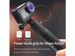 STARTRC OSMO Action Portable Fast Battery Charger Power Bank Grip Selfie Stick with ABS Protective Cage for DJI OSMO Action Camera