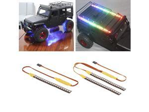 145mm 2 in1 LED Light for 1/10 Traxxas TRX-4 UDR X-Maxx Hsp Redcat Rc4wd Tamiya Axial SCX10 HPI Hobao RC Car Vehicle with 20 Light Mode