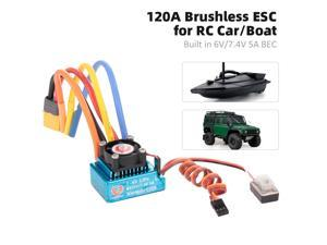 120A Sensored Brushless ESC Electric Speed Controller with BEC XT60 Connector for RC Car Boat