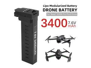 Compatible with SG906 Pro Pro2 Drone Battery 7.6V 3400mAh 28mins Battery Life Aircraft lithium battery Long Flight Time