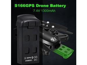CSJ 7.4V 1300mAh Drone Battery for S166GPS S167 RC Quadcopter