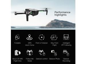 SG906 GPS Brushless 4K Drone with Camera Handbag 5G Wifi FPV Foldable Optical Flow Positioning Altitude Hold RC Quadcopter Drone with 2 Battery