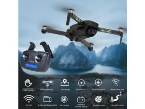 CSJ X7 Pro2 GPS RC Drone with Camera 4K 3-axis Gimbal Brushless Motor 5G Wifi FPV Optical Flow Positioning Quadcopter Point of Interest GPS Follow 1200m Control Distance 26mins Flight Time with Bag 2