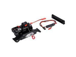 Metal Front Under Bumper with Winch Base Compatible with TRAXXAS TRX6 G63 TRX4 G500 RC Car Parts Accessories with Third Channel Link Line and External Extension Conversion Line
