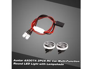 AUSTAR AX007A 2pcs RC Car Multi-Function Round LED Light with Lampshade for 1/10 SCX10 D90 TRX4 Model Crawler Car