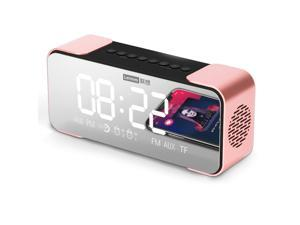 Lenovo L022(CN Version) BT Speaker Radio Alarm Clock Radio Digital Alarm Clock DIY Ringtone One-Click Snooze BT Call Speaker FM Radio Dual Alarms AUX-in TF Card Input Large Display for Bedrooms