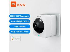Xiaomi Xiaovv Smart Panoramic Camera XVV-1120S-A1 Outdoor Camera 360° 1080P HD IP High Definition Infrared Night Vision Home Security Cameras Work With Mjia APP