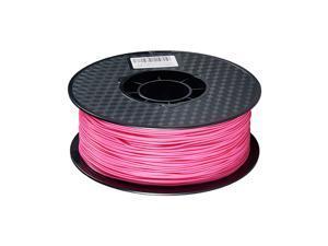 PLA 3D Printer Filament No Mess No Clogging Printing Consumables Dimensional Accuracy +/- 0.05 1.75mm Diameter 1kg(2.2lbs) Spool Rose Red