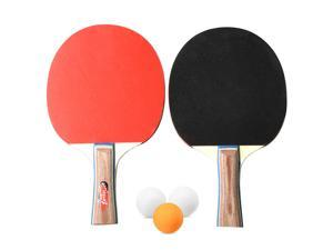 Table Tennis 2 Player Set 2 Table Tennis Bats Rackets with 3 Ping Pong Balls for School Home