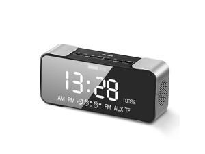 Lenovo L022 Wireless BT Speaker Portable Wireless Stereo Speaker Subwoofer Audio Player with Dual Alarm Display Black