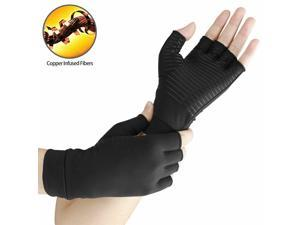 Copper Compression Arthritis Gloves High Copper Infused Compression Gloves for Women and Men Pain Relief and Healing for Arthritis