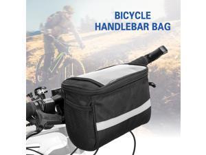 Cycling Bike Bicycle Insulated Front Bag MTB Bike Handlebar Bag Basket Pannier Cooler Bag with Reflective Strip