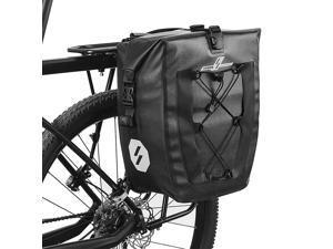 27L Waterproof Bike Rear Rack Bag Bicycle Pannier Bag Cycling Touring Grocery Bike Trunk Bag