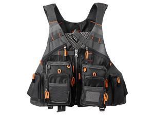 Outdoor Fishing Vest Pack Multi Pocket Breathable Mesh Fishing Vest Waistcoat Jacket Coat Unpadded