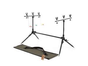 Lixada Adjustable Retractable Carp Fishing Rod Pod Stand Holder Fishing Pole Pod Stand Fishing Tackle Fishing Accessory