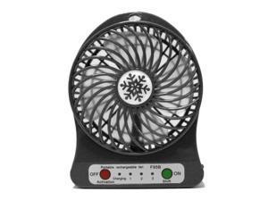 LED Light Fan Electric Air Cooler Mini Desk USB Fan Fashion Hobbies Desk Personal Fan 3 Speed Mode Flexible Ventilator Bed Office Portable Rotating Mute Stroller Car Laptop Table Home
