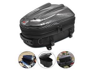 Waterproof Motorcycle Seat Tail Bag Multifunctional Expandable Motorcycle Luggage Bag Motorbike Helmet Bag Backpack Handbag