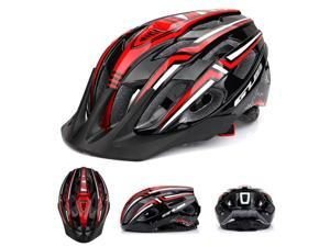 Bicycle Helmet with USB Rechargeable LED Light Lightweight Mountain Road Bike Cycling Helmet Outdoor Sport Safety Helmet 19 Vents