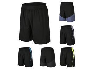 Men Sport Shorts Splicing Quick Dry Elastic Waist Short Pants for Workout Basketball Running Casual