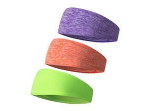 3 PCS Headbands Sweatbands Women Men Head Bands for Sports Workout Exercise Cycling Hiking Tennis Basketball