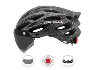 Cairbull Road Mountain bike Riding Helmet Helmet With Lens And Brim Taillight Riding Helmet Riding Equipment
