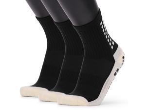 Men's Anti Slip Football Socks Athletic Long Socks Absorbent Sports Grip Socks for Basketball Soccer Volleyball Running Trekking Hiking 1 Pairs / 3 Pairs