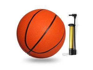 Kids Mini Basketball Size 1 Indoor Outdoor Rubber Basketball with Inflation Pump