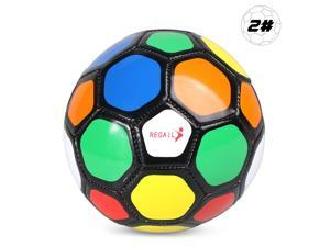 Size 2 Kids Soccer Ball Inflatable Soccer Training Ball Gift with Carrying Sack for Children Students