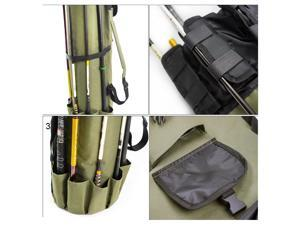 Fishing Rod Tackle Bag Large Capacity Fishing Pole Storage Bags Fishing Gear Organizer Travel Carry Pole Tools Bag Portable Fishing Rod Case for Fisherman Outdoor Fishing