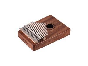GECKO K17M 17-key Kalimba Thumb Piano Mbira Mahogany Solid Wood with Carry Bag Storage Case Tuning Hammer Music Book Stickers Musical Gift