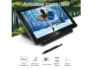 BOSTO BT-16HDT Portable 15.6 Inch H-IPS LCD Graphics Drawing Tablet Display Support Capacitive Touchscreen 8192 Pressure Level Passive Technology USB-Powered Low Consumption Drawing Tablet with