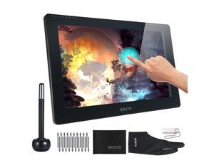 BOSTO Studio 16HDT 15.6 Inch Portable Graphic Monitor Drawing Tablet All-in-One Computer 1920*1080 HD Resolution 8G+256G Memory Support Touch-Control with 8192 Level Pressure Battery-Free