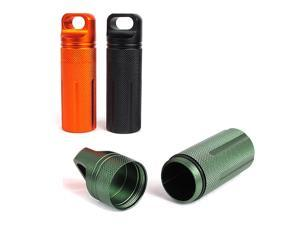 3pcs Outdoor Pill Bottle Waterproof Aluminum Alloy Pill Case for Camping Hiking