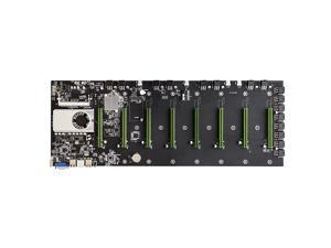 BTC-D37 Motherboard with Onboard Intel Celeron 847 CPU 8 PCI-E 16X Slots Gigabit Network VGA+HD Ports Support 8 Graphics Cards