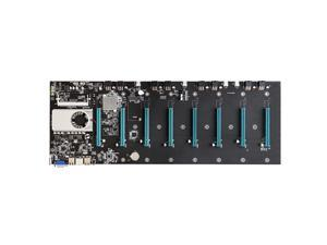 BTC-S37 Motherboard with Onboard Intel Celeron 847 CPU 8 PCI-E 16X Slots Gigabit Network VGA+HD Ports Support 8 Graphics Cards