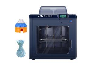 """ANYCUBIC 4 Max Pro 2.0 3D Printer, FDM Printer Industrial-Grade Sheet Metal Structure, Silent and Automatic Shutdown, Z-axis Dual Graphite Bearings, Printing Size 10.63""""(L) x 8.27""""(W) x 7.5""""(H)"""