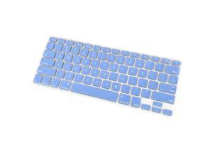 TPU Keyboard Cover Dustproof Keyboard Protective Film Compatible with Apple MacBook Air 13.3 inch A1466/A1369 Light Blue